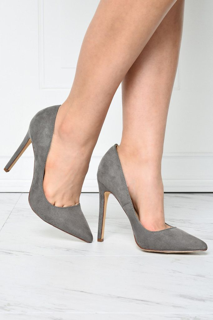Luxe Gray Suede Shoes – Fashion Effect Store
