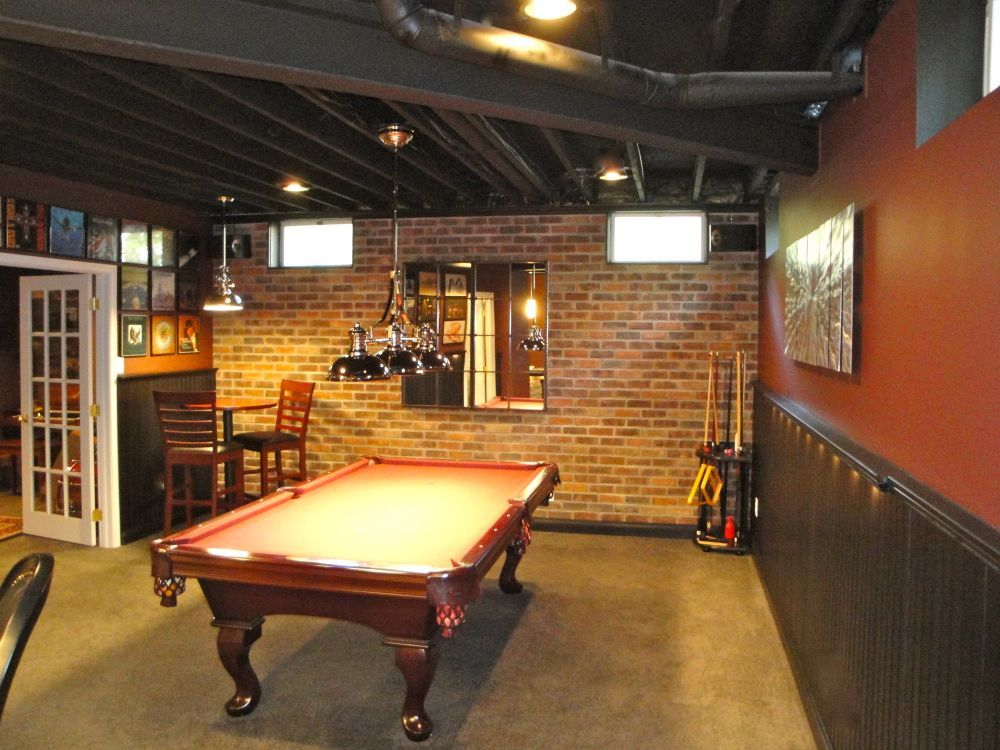 20 Best Bars And Stools For Your Man Cave Rustic Basement Billiard Room Basement Remodeling