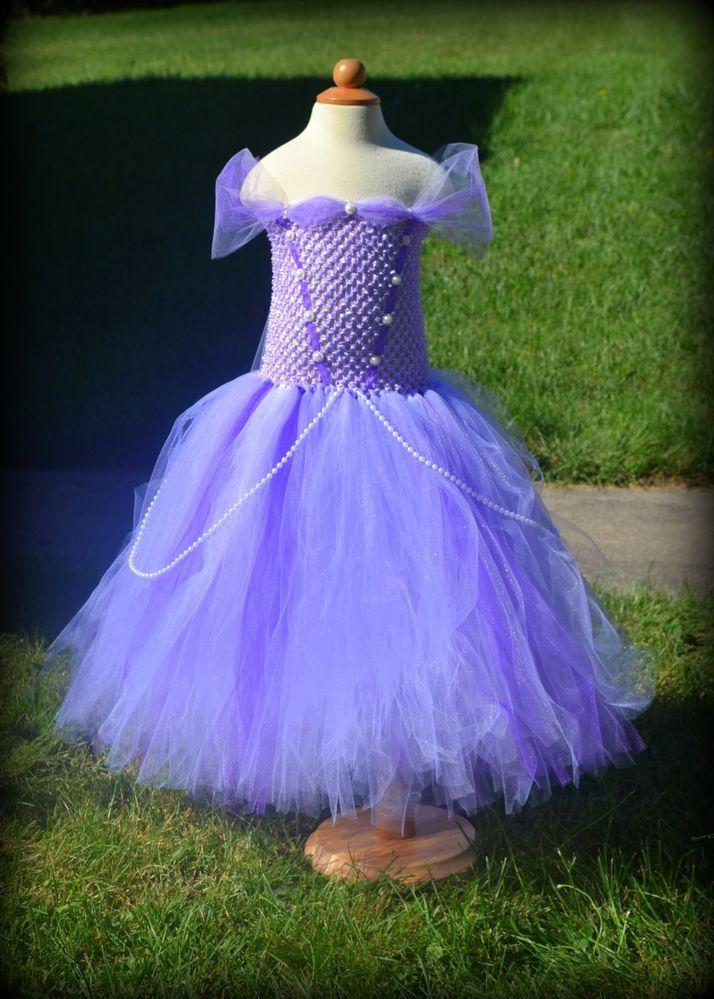 inspiration disney junior princess sofia inspired tutu dress 6months 5t halloween costume - Disney Jr Halloween Costumes