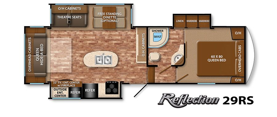 Reflection Fifth Wheel 29rs Floor Plan Grand Design Rv