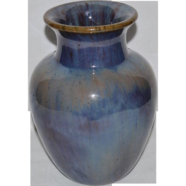 "Wonderful Fulper Vase ~ 7 ½"" Tall ~ Chinese Blue / Wisteria Glaze ~ Fulper Pottery Flemington, New Jersey 1916-1922 @rubylanecom #VintagePottery #rubylane"