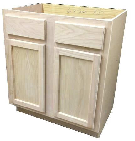Unfinished Sink Base Bathroom Vanity Cabinet 30