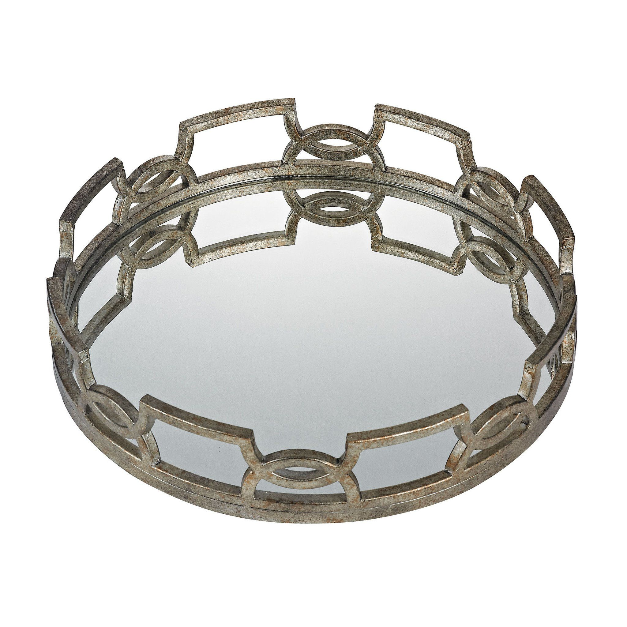 Decorative Mirror Tray Entrancing Iron Scroll Mirrored Tray  Mirror Tray Trays And Iron Decorating Design