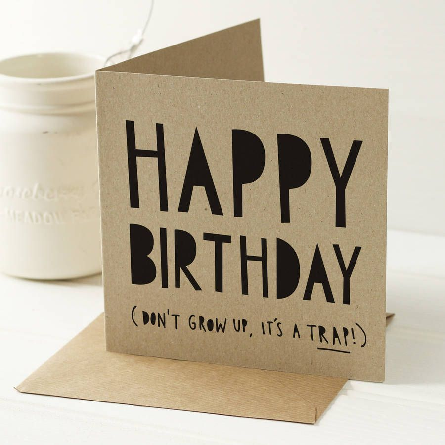 Dont grow up birthday card by old english company dont grow up birthday card by old english company notonthehighstreet bookmarktalkfo Images