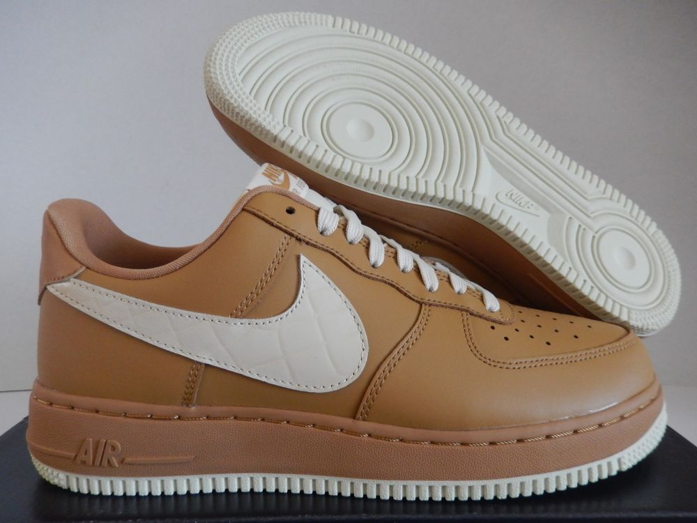 Mens Nike Air Force 1 07 Lv8 Gold Light Cream Low 823511 703