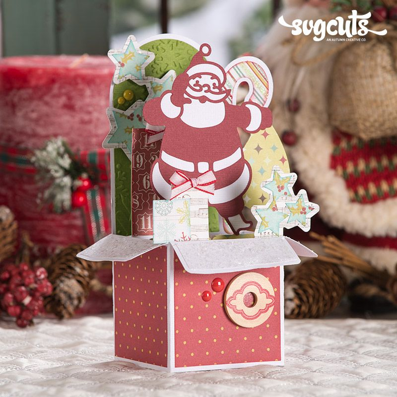 Christmas Box Cards SVG Kit Blog Boxed