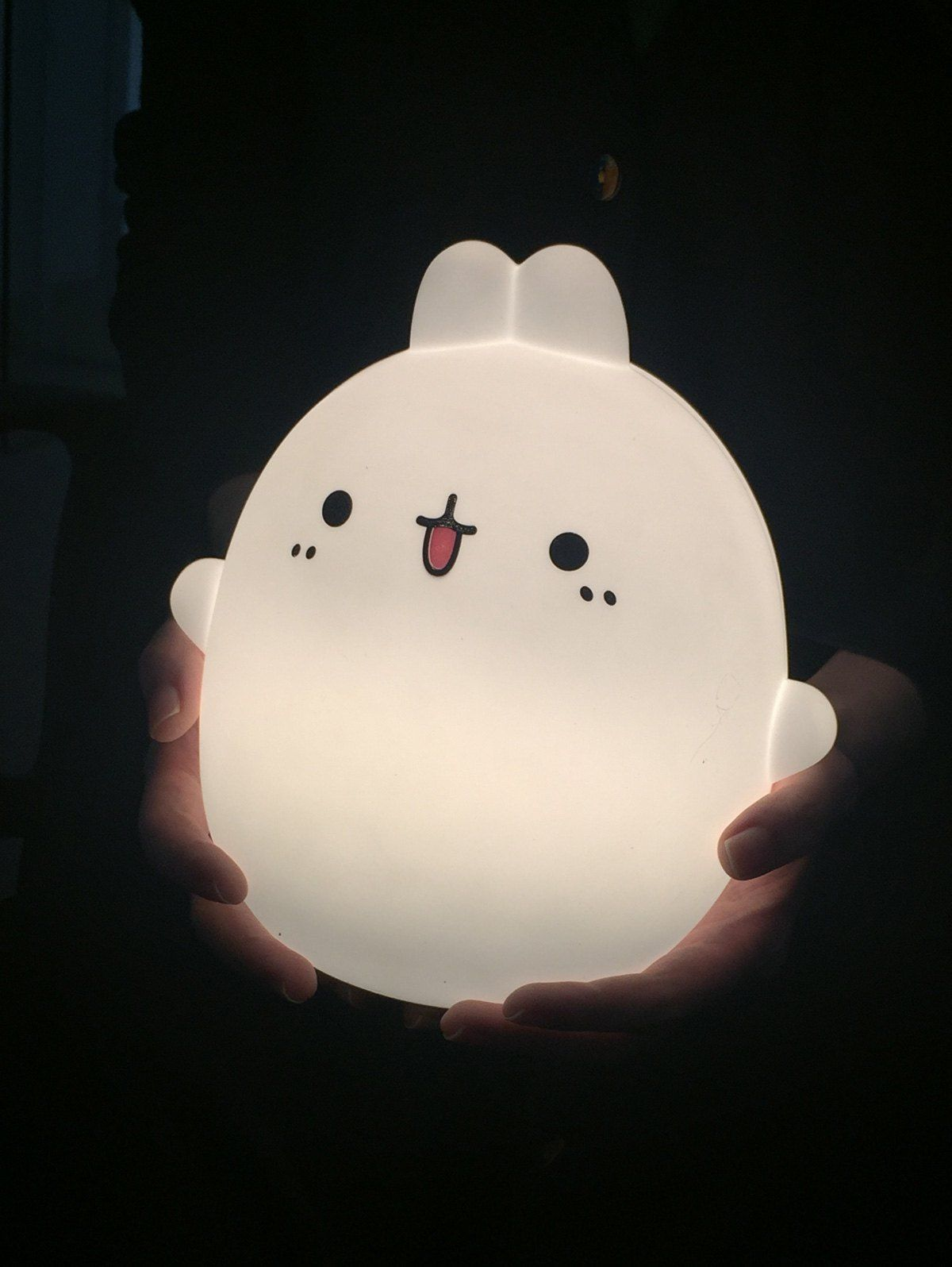 Lampe De Chevet Led Usb Telecommandee Coloree En Silice Motif Animation Colore Cute Night Lights Night Light Kawaii Room