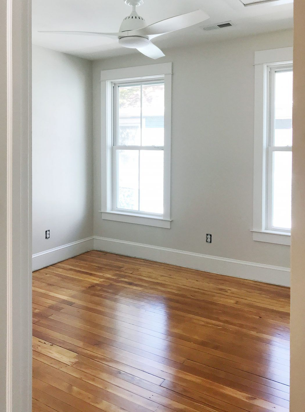 The Pine Floors At The Beach House Are Refinished And It Changes Everything Pine Floors White Wood Floors