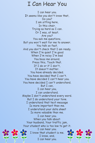 poems about disabled adults
