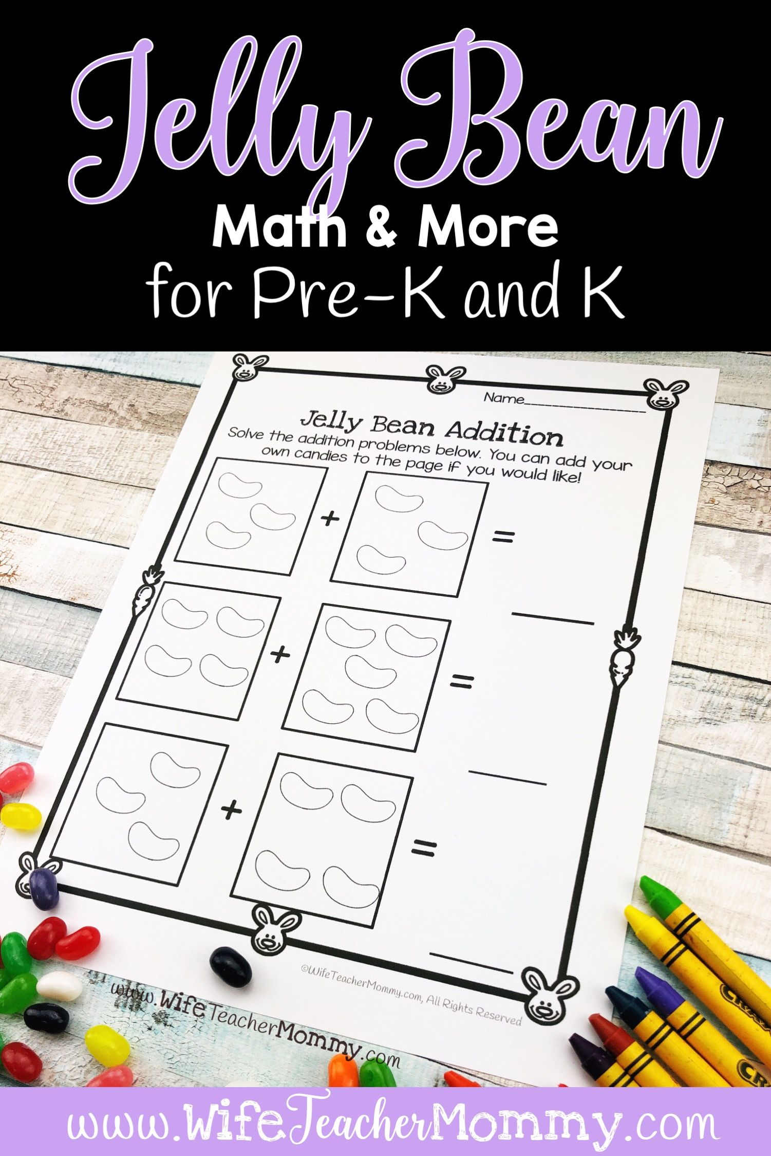Easter Jelly Bean Math Activities Ela Kindergarten Pre K