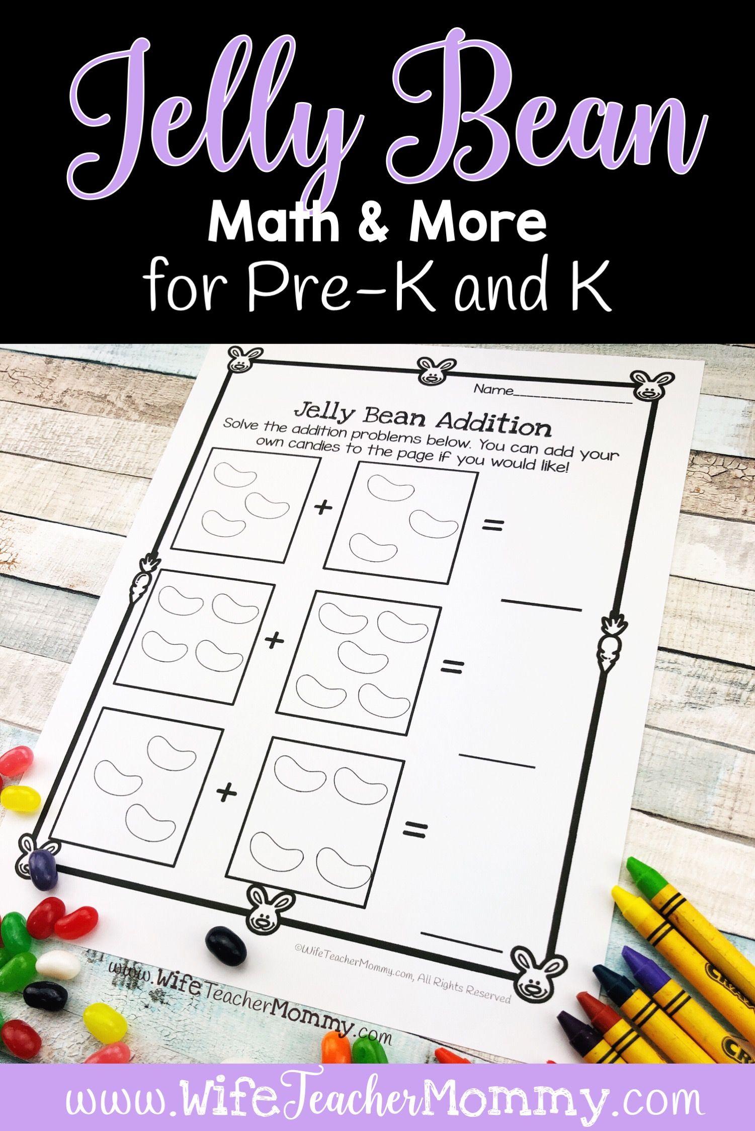 Easter Jelly Bean Math Activities Ela Kindergarten Pre K