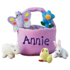 Personalized easter basket with 5 plush toys easter basket personalized easter basket with 5 plush toys easter basket personalized gift personalized easter basket monogrammed easter basket monogram negle Images