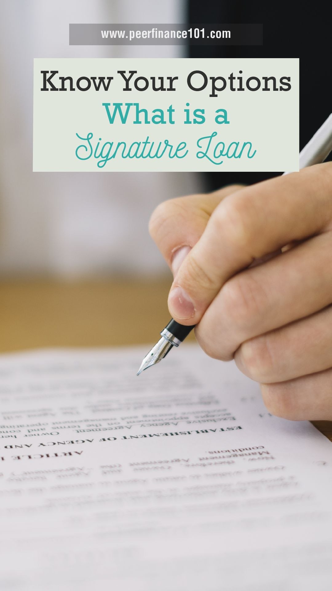 Know Your Options What Is A Signature Loan In 2020 Signature Loans Loan Quick Loans