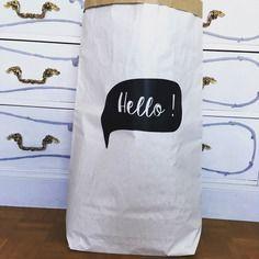 Paperbag - des jolis sacs de rangement en papier kraft - motif bulle