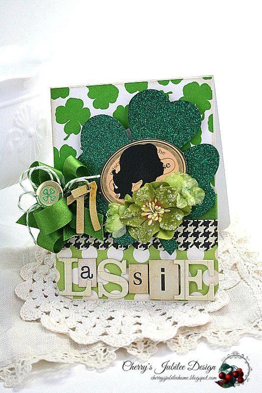 St. Patricks Day card-LASSIE by cherrysjubileecards on Etsy