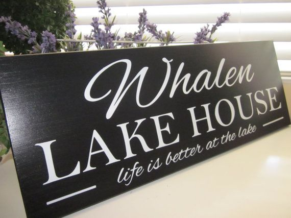 Welcome To The Lake Sign, Cabin Sign, Custom Name Sign, Lake Decor
