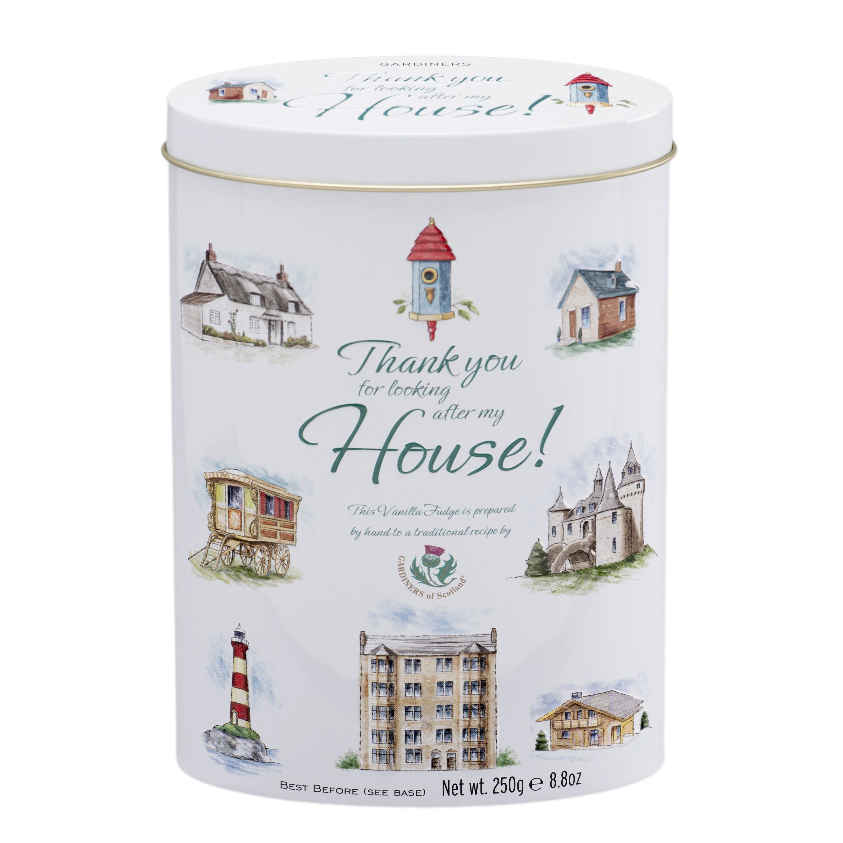 "Photo of Thank You Tin ""House"" – Vanilla Fudge -8.8oz"