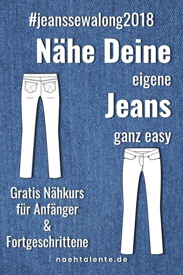 Jeans Sew Along: Comment coudre des jeans   – Nähen lernen für Anfänger und Fortgeschrittene