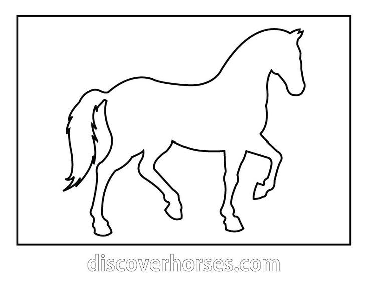 Simple Horse Stencils Google Search Horse Template Horse