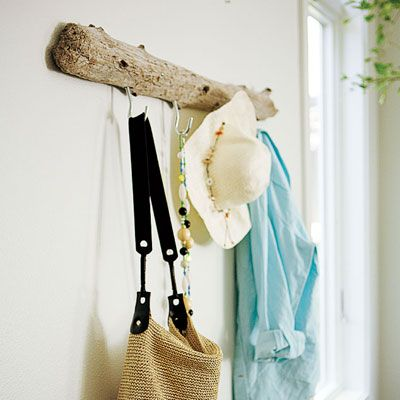 driftwood coat rack Photo: Rob D. Brodman | thisoldhouse.com | from 88 Quick and Easy Decorative Upgrades