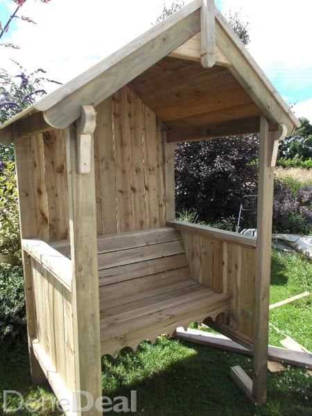 Garden Arbour Seat Add A Room On The Back Under Roof To Cover The