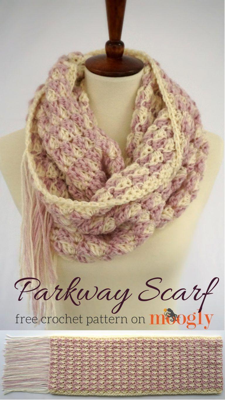 Parkway Scarf - free crochet pattern on Moogly!   Crochet ...