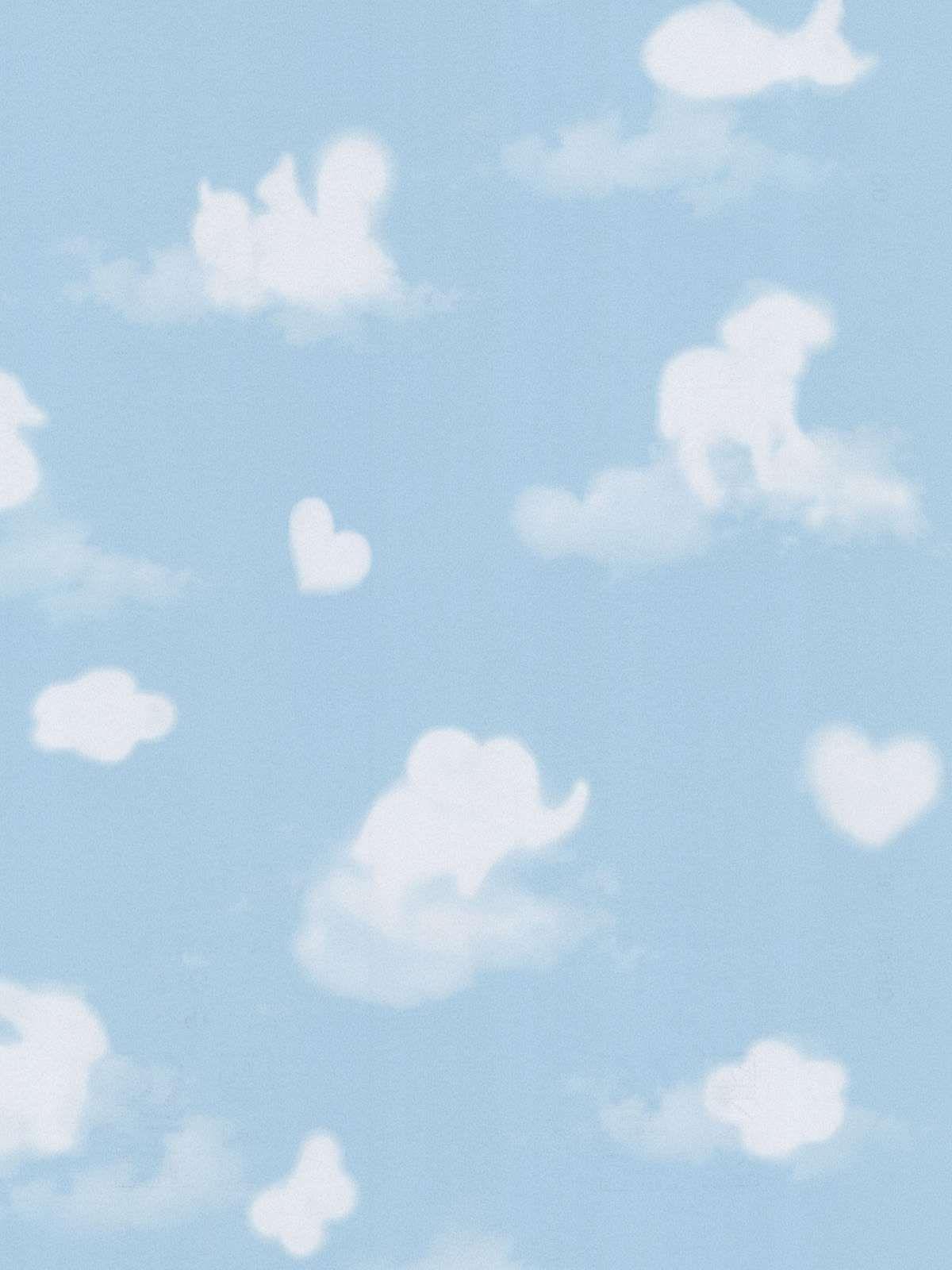 Cloud Shapes Nursery Wallpaper Joe's Room Ideas
