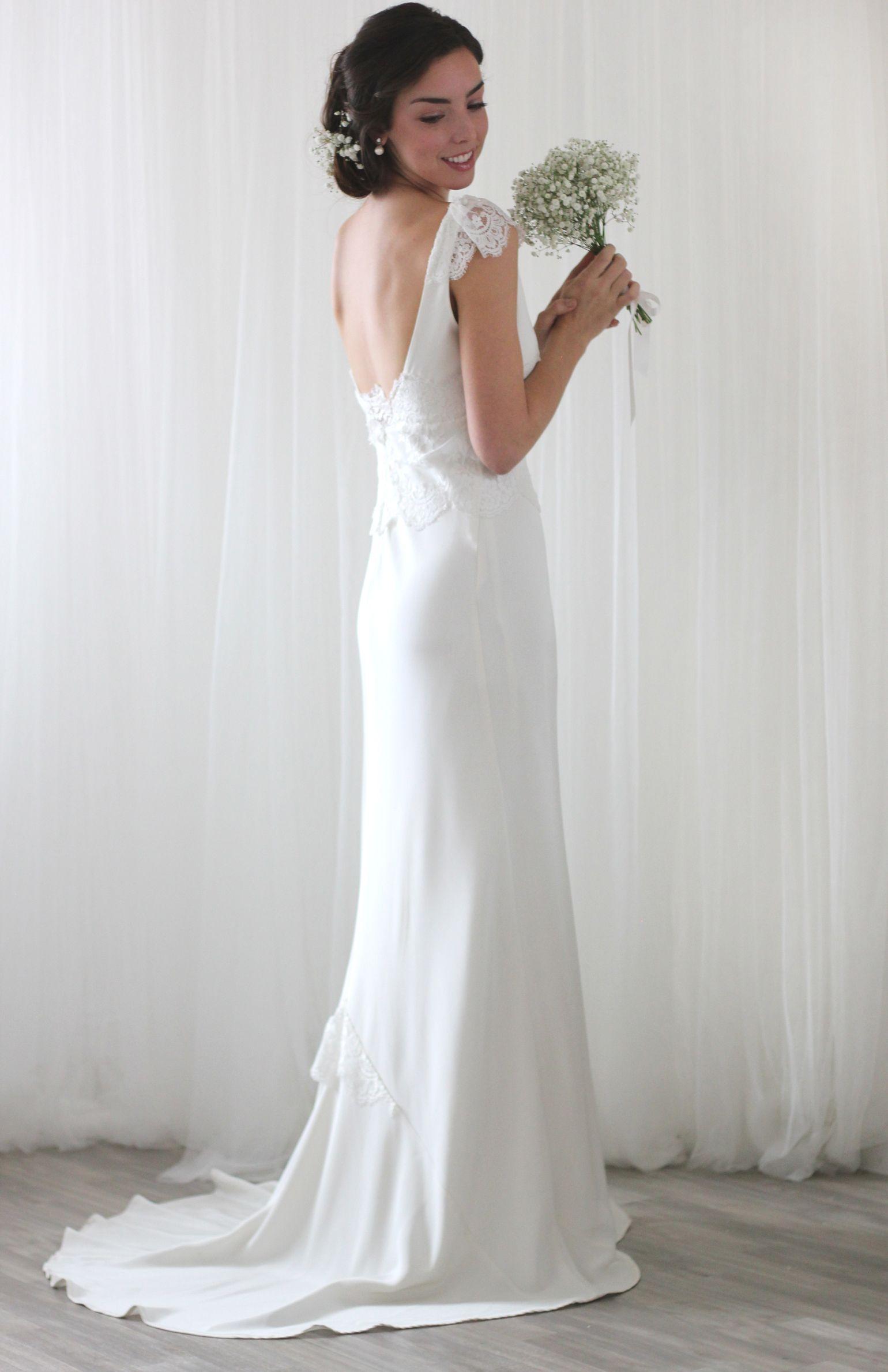 95305cd087c Ava Silk bias cut wedding dress Inspired by all things pretty