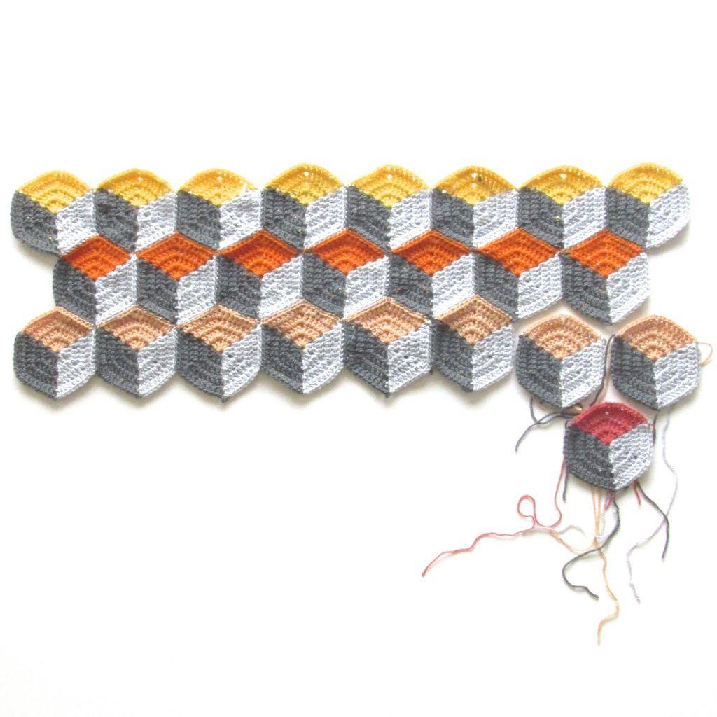 Free Geo-Hexie Crochet Pattern + Tutorial   Patrón de ganchillo ...