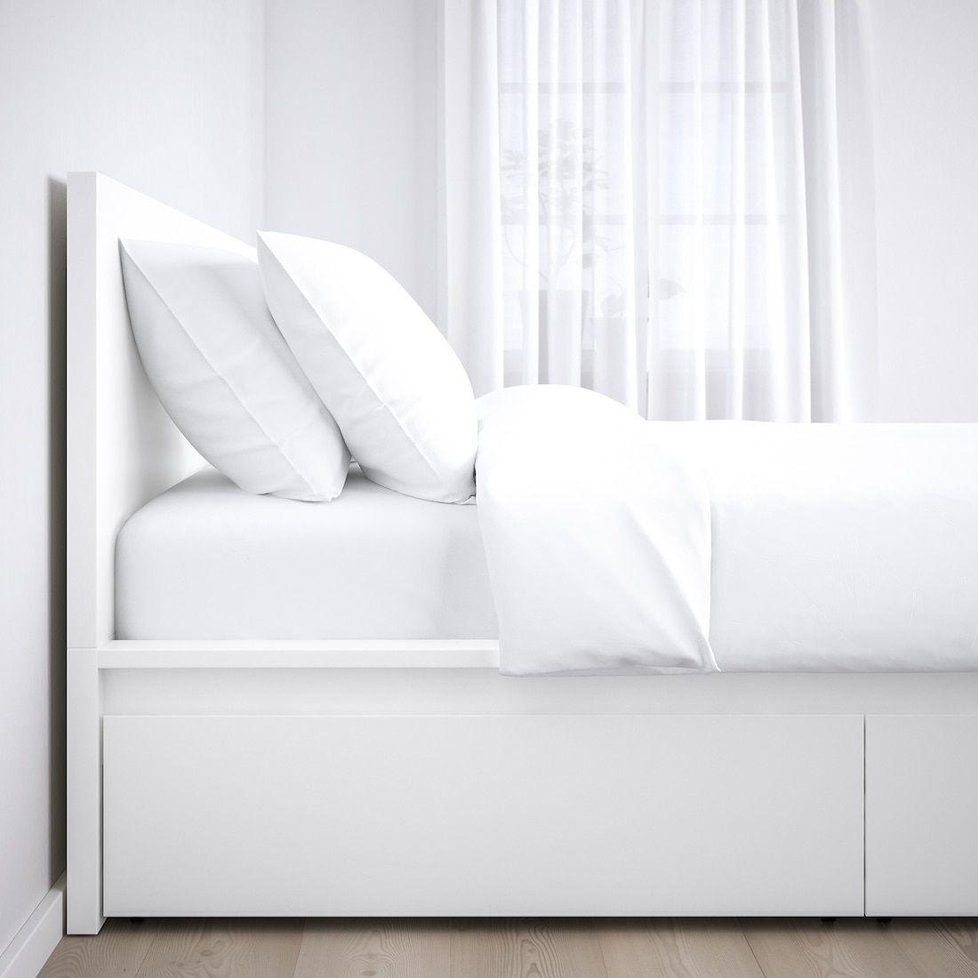 Malm Bettgestell Hoch Mit 2 Schubkasten Weiss Ikea Deutschland In 2020 High Bed Frame White Bed Frame Malm Bed Frame