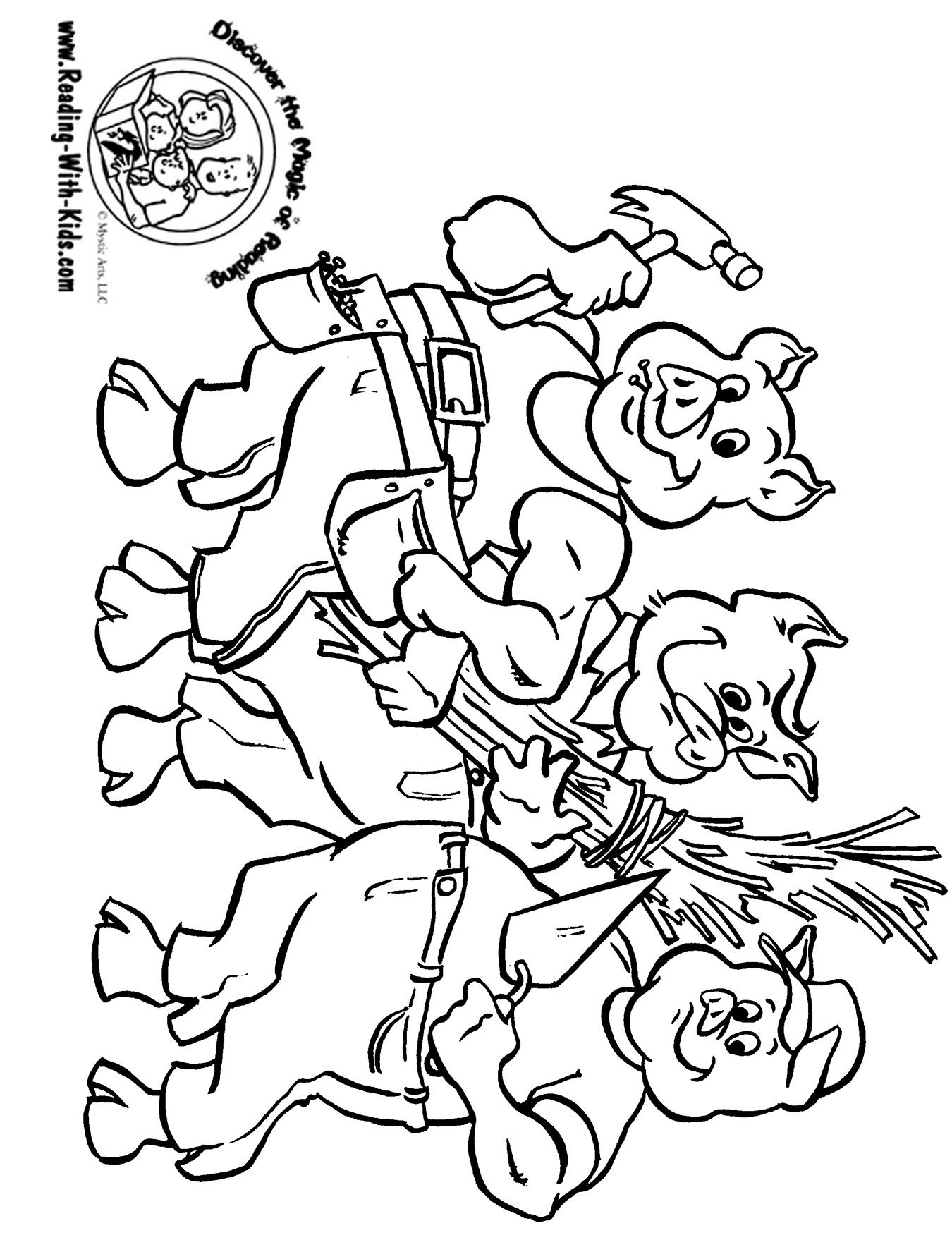 Fairy Tail Coloring Pages Five Little Ducks Coloring Page  Fairy Tale Coloring Pages