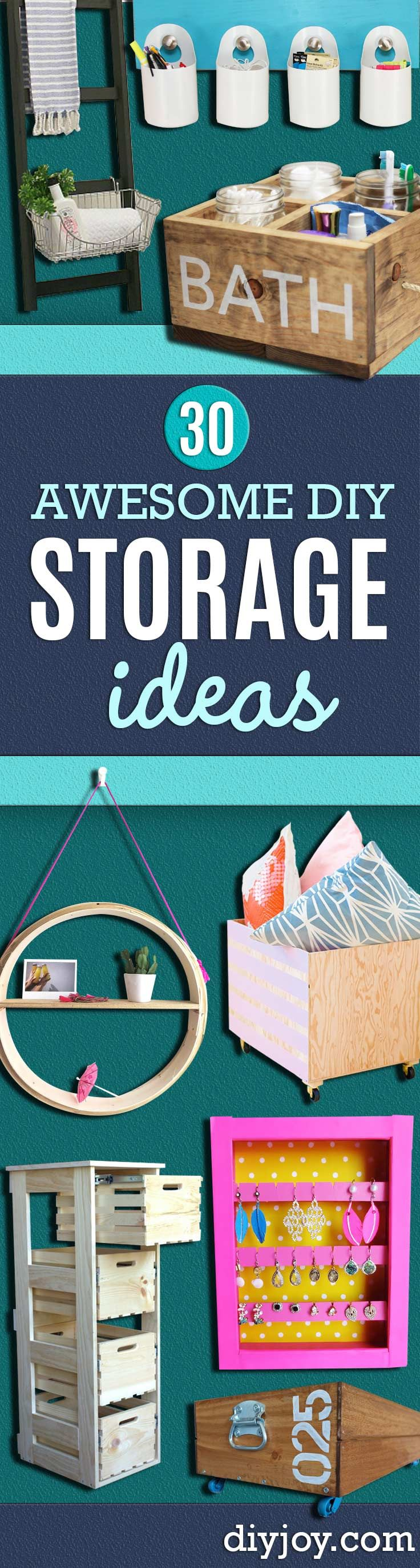30 awesome diy storage ideas organizadores con mama y diy storage ideas home decor and organizing projects for the bedroom bathroom living solutioingenieria