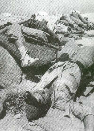 Legionarios de la XIII Bandera muertos en Sidi Ifni