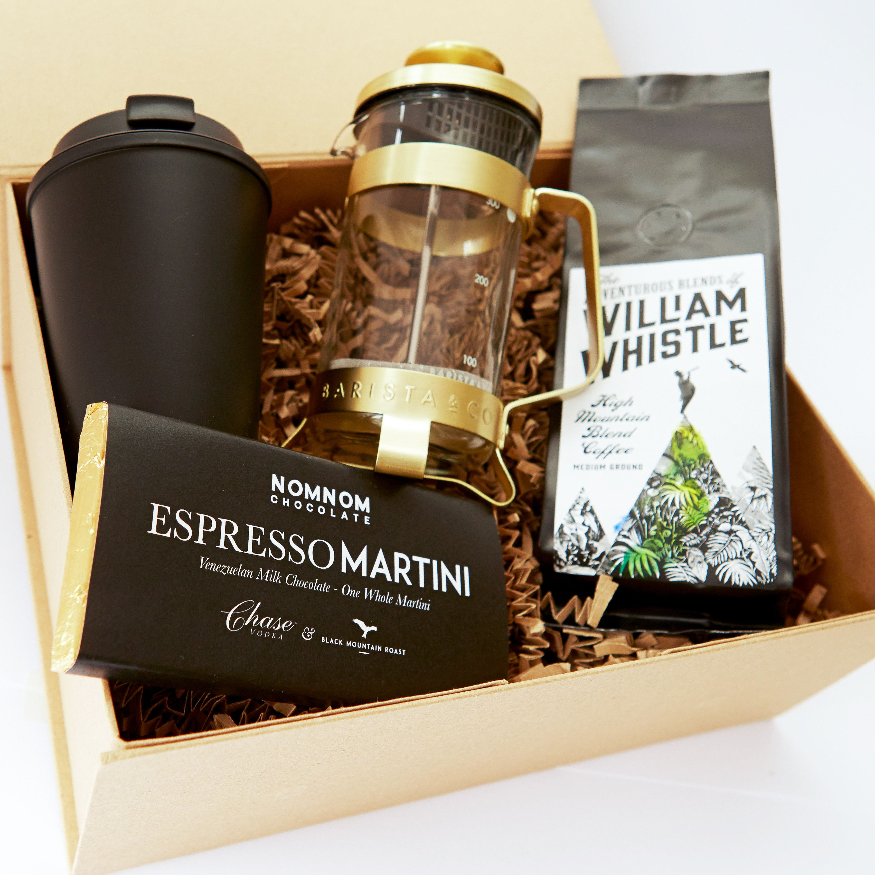 TwinkleBoxCo 'An Elegant Start' coffee gift box. For