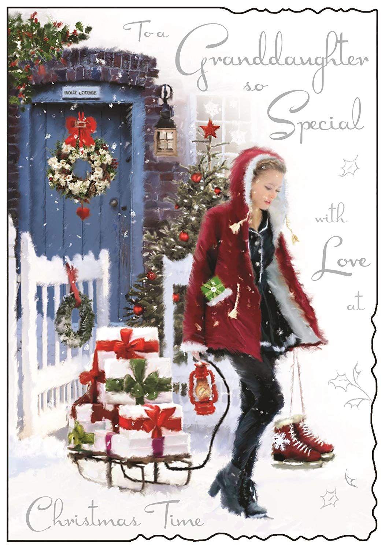 Christmas Card JJ5297 Granddaughter So Special