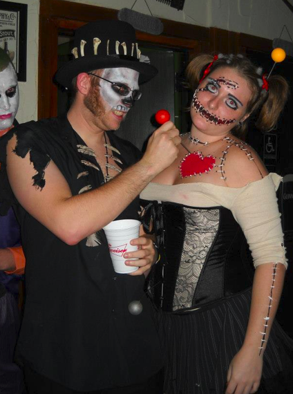 me and my bf's halloween costume  voodoo doll and voodoo priest