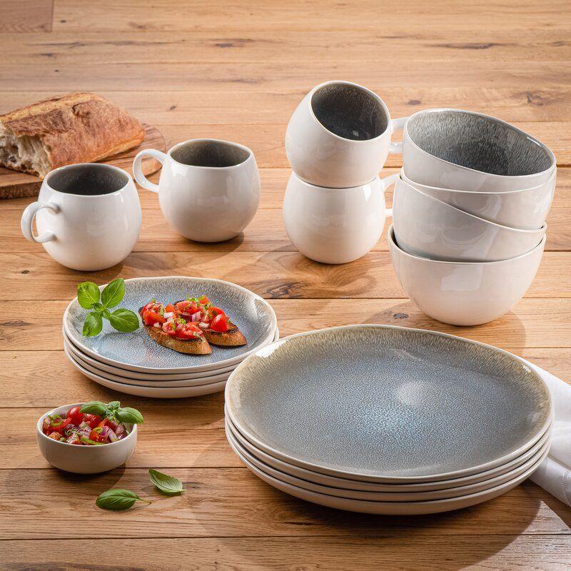 Fallsbrooke 16 Piece Dinnerware Set Service For 4 Dinnerware Set Dinnerware Stoneware Dinnerware