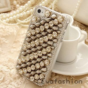 studded iphone 4 Case  iphone 4s case  iphone 4 skin  by EvaFashion, $28.90