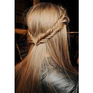 Cute half up half down fish tail braid Straight Hair Girl Problems