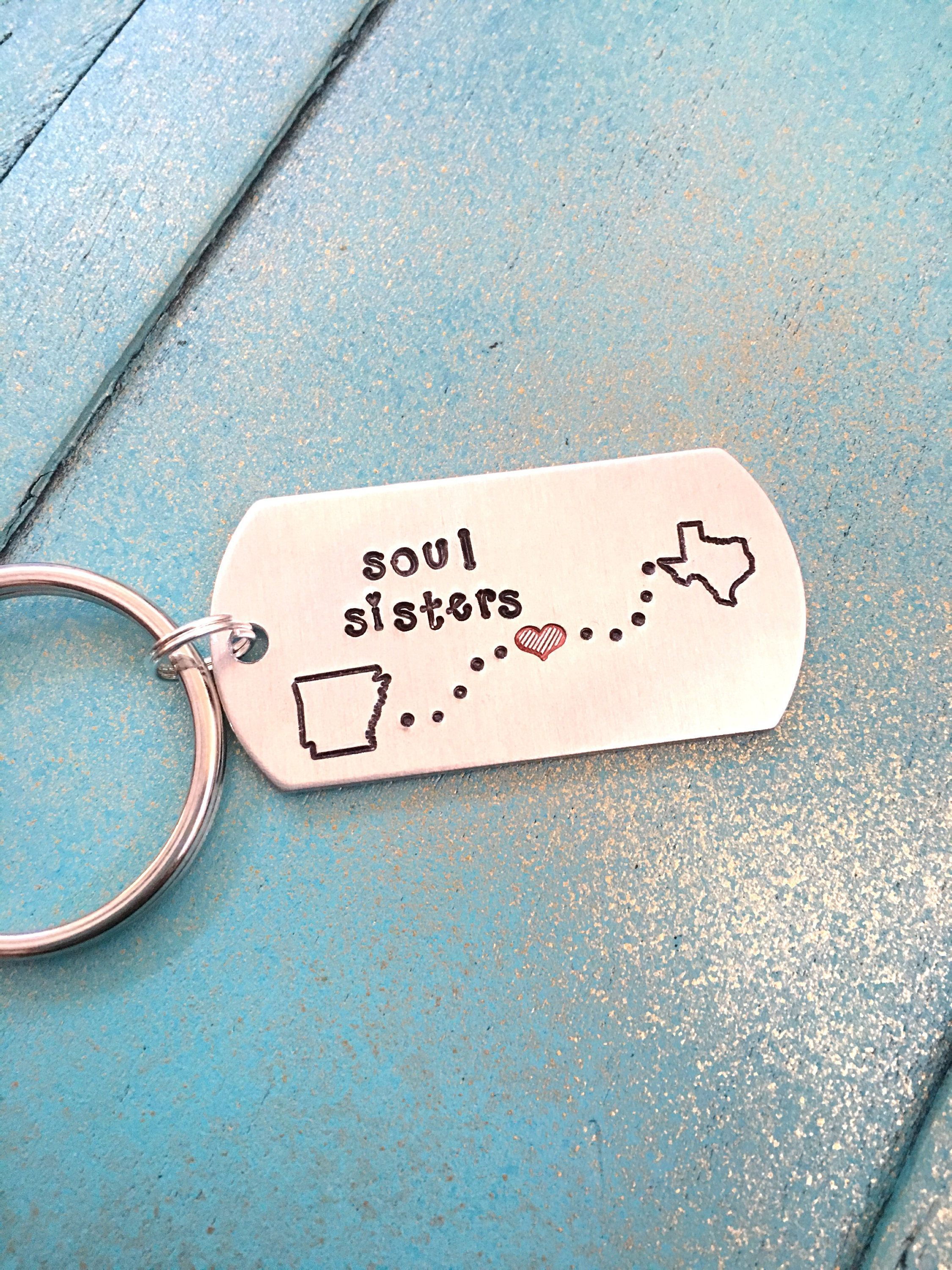Long Distance Keychain Sisters Gift Keychain Set Sister Gift I Miss Your Face Keychain