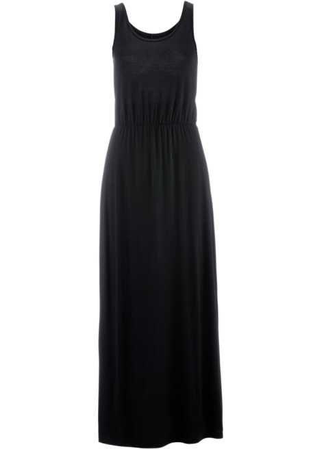 Maxiklänning i trikå svart - bpc bonprix collection - bonprix.se 283c19a87c0a4