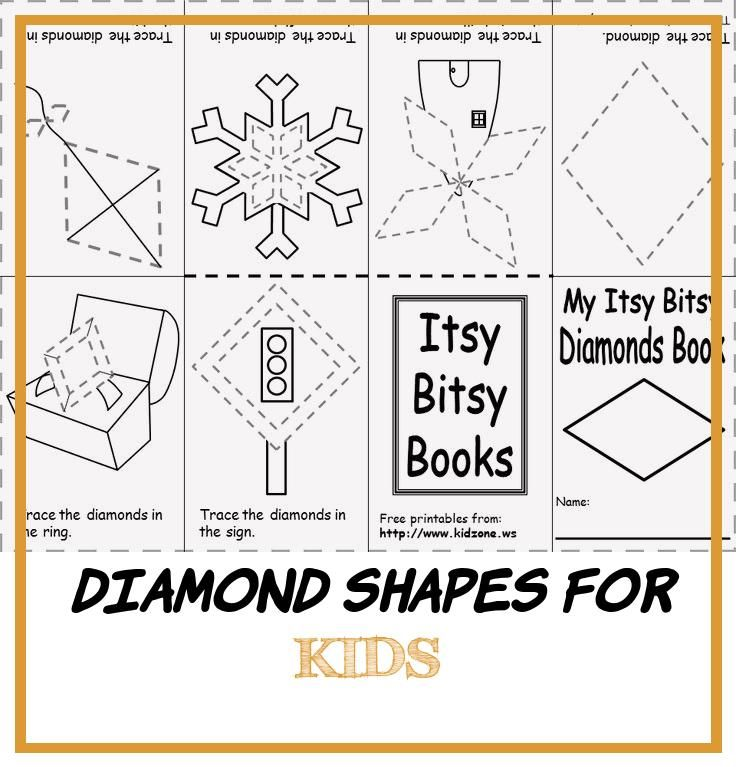 13 Diamond Shapes for Kids in 2020 Shapes for kids