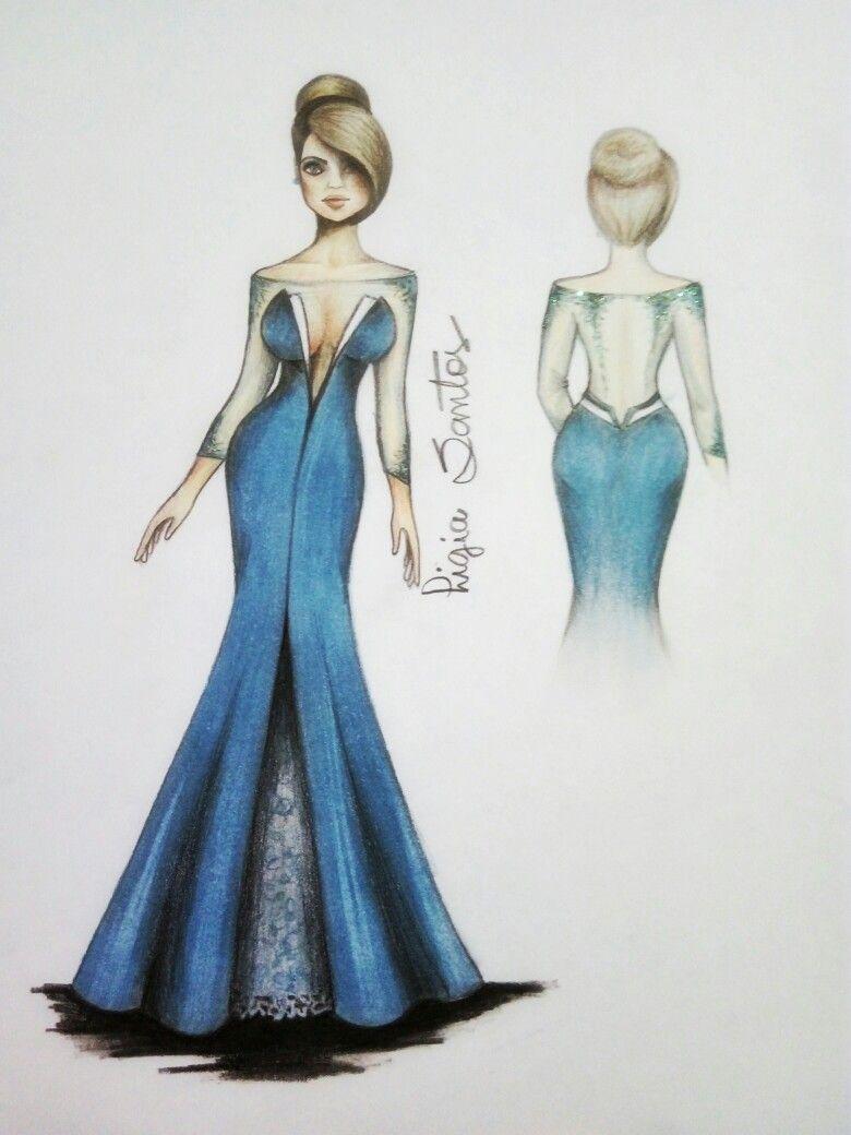wedding #dress #moda #mode #style #fashion #croqui #drawing ...