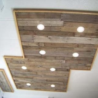 Inexpensive Kitchen Light Upgrade Using Pallet Wood Pallet