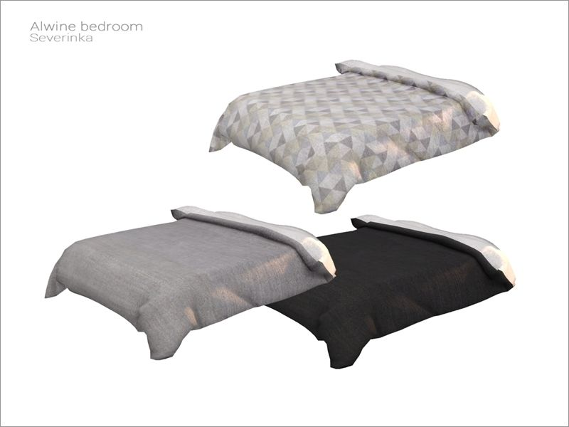 Blanket for the double bed (decorative) Found in TSR Category \'Sims ...