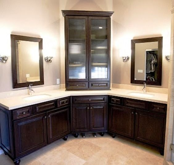 corner bathroom vanity double sinks | Master bathroom | Pinterest ...