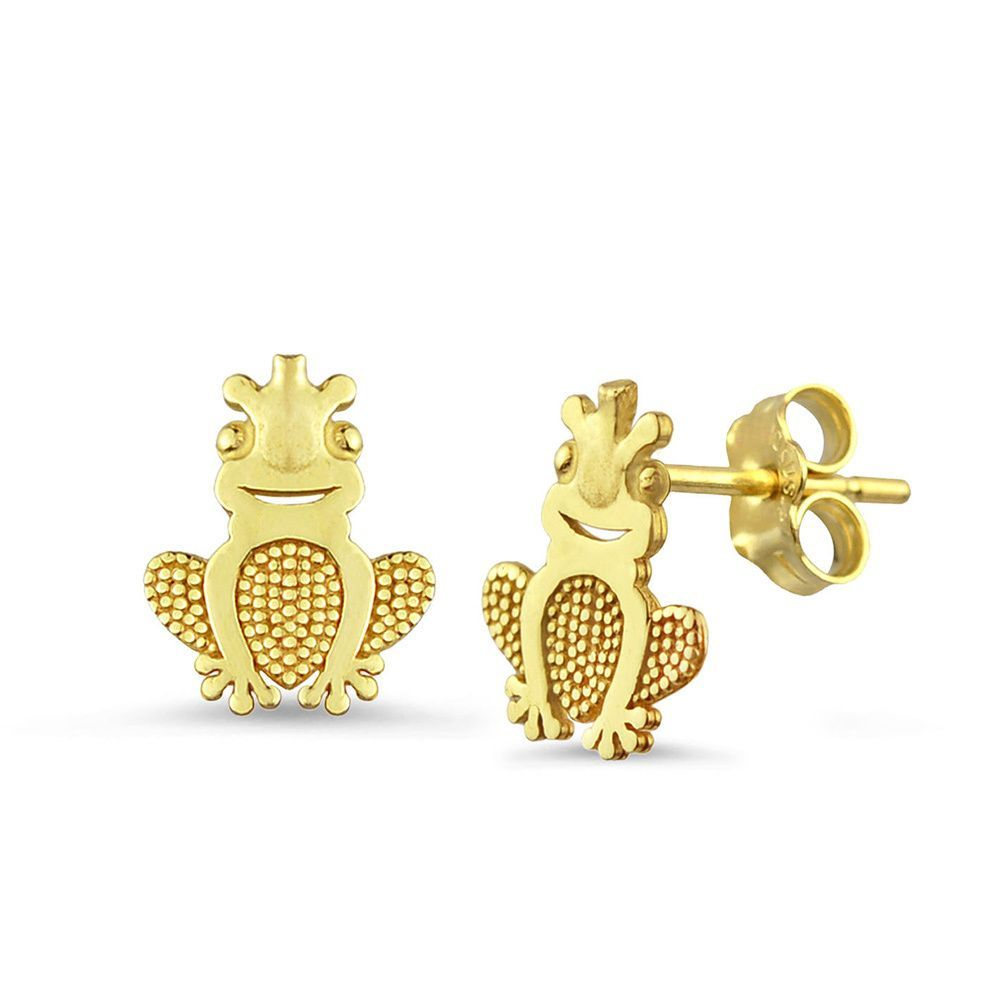 yellow stud earrings gold at claddagh irish irishshop