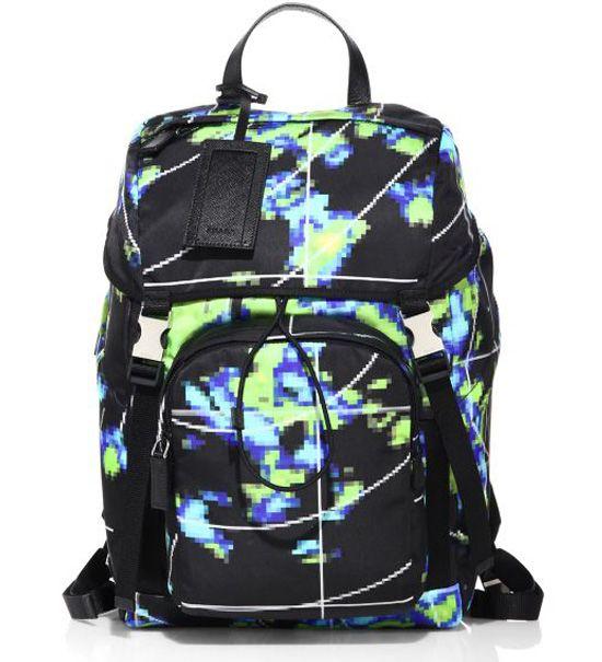 e7c3c013f1b3 Prada Radar Printed Backpack Black  235.00
