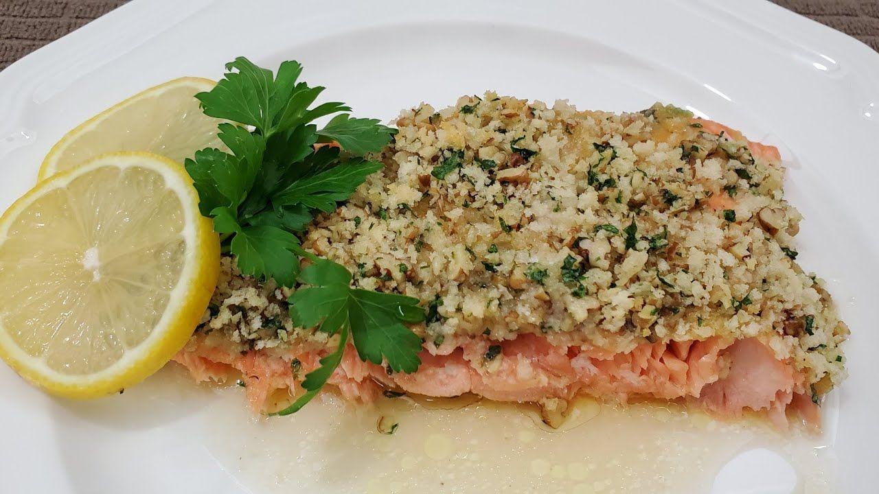 طريقة تحضير فيليه سمك السلمون بالعسل والخردل Honey Dijon Salmon Fillet Youtube Food Dishes Fish