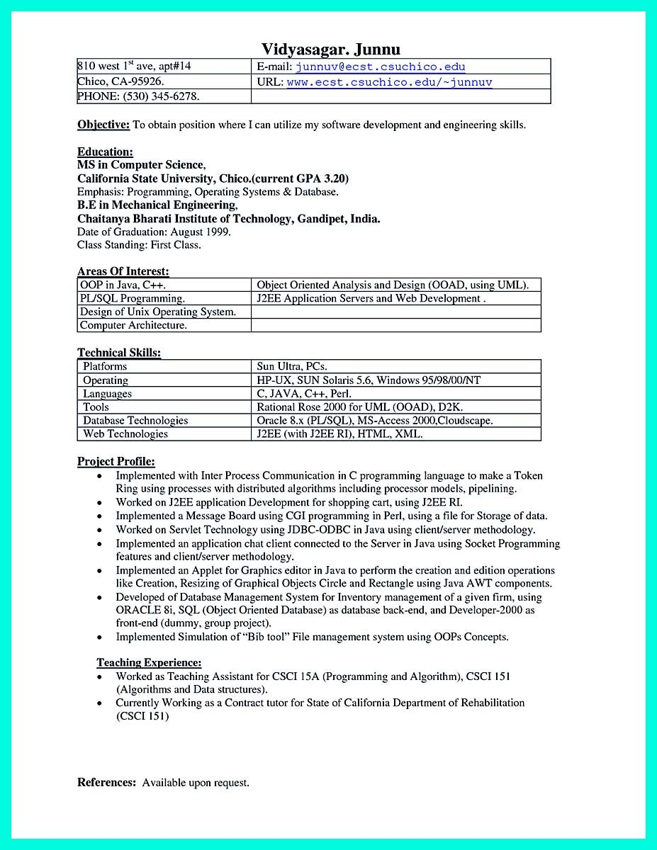 Awesome Computer Programmer Resume Examples To Impress Employers Check More At Http Snefci Org Computer Programmer Resume Examples Impress Employers